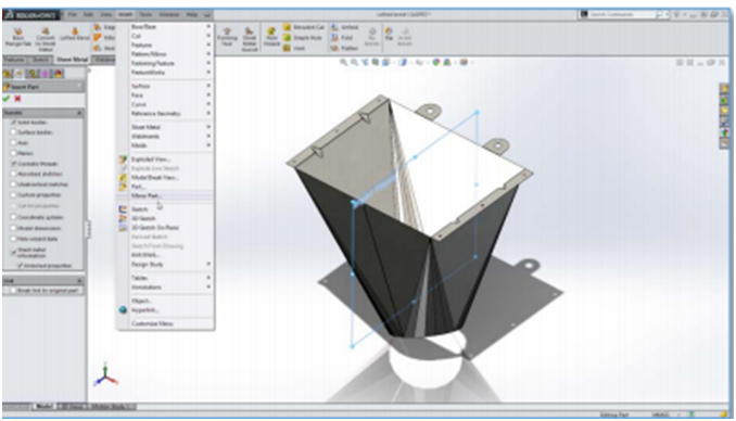 Use SOLIDWORKS Sheet Metal in Products