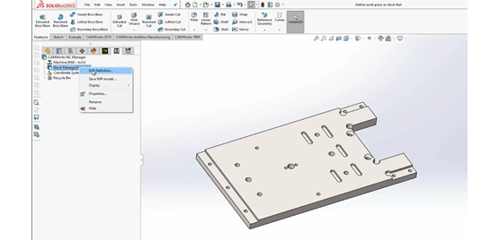 Getting Started with CAM: Defining the Workpiece or Stock