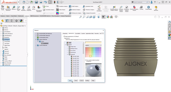 How to Apply Custom Materials in SOLIDWORKS