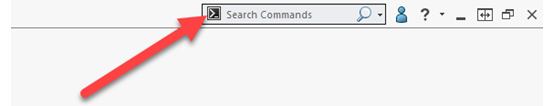 How to Use the SOLIDWORKS Search Command Window