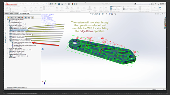 Simulating Work in Process in SOLIDWORKS CAM