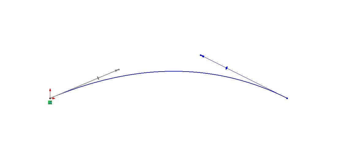 Modified Spline Handles in SOLIDWORKS Sketcher