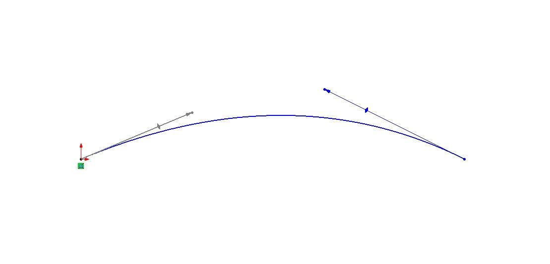 Modified Spline Handles in SOLIDWORKS Sketcher