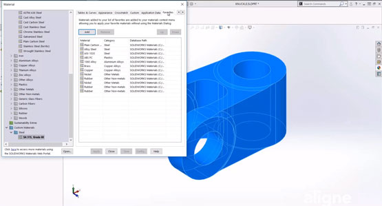 Getting Started with SOLIDWORKS Simulation - Assigning Materials