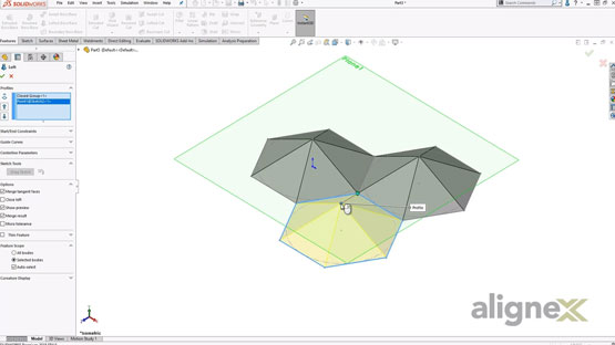 How to Transform a Solid Object into a Complex Surface