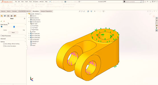 Getting Started with SOLIDWORKS Simulation - Meshing