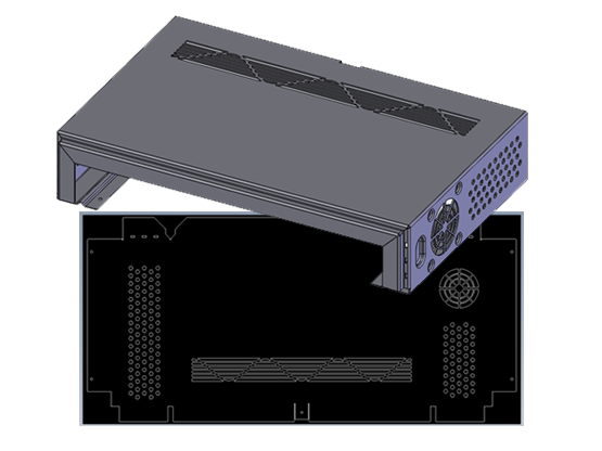 Sheet Metal 3D Model and 2D Drawing in SOLIDWORKS