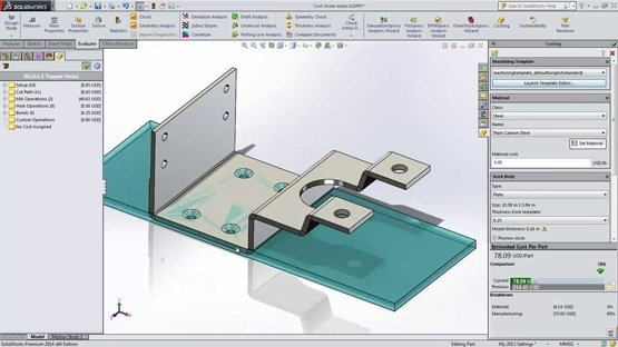 SOLIDWORKS Costing Tool