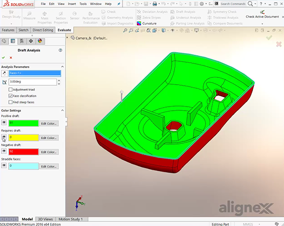How to Use the Draft Analysis Tool in SOLIDWORKS