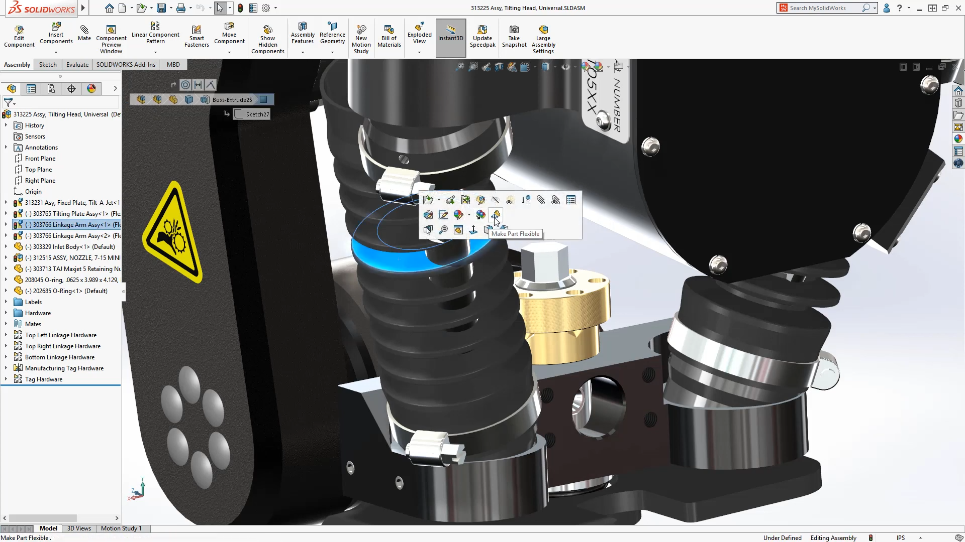 Detailing Mode and Flexible Parts Coming to SOLIDWORKS 2020