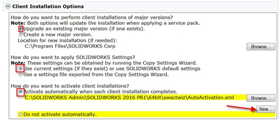 Client-Installation-Options