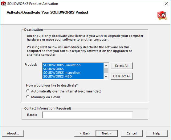 How to Deactivate a SOLIDWORKS License