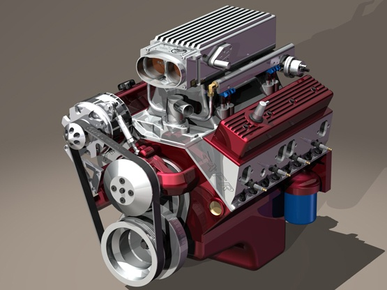 SolidWorks Small Block Model Engine