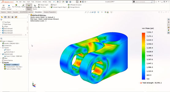 Getting Started with SOLIDWORKS Simulation - Results