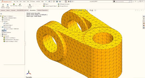 Introduction to SOLIDWORKS Simulation - Meshing