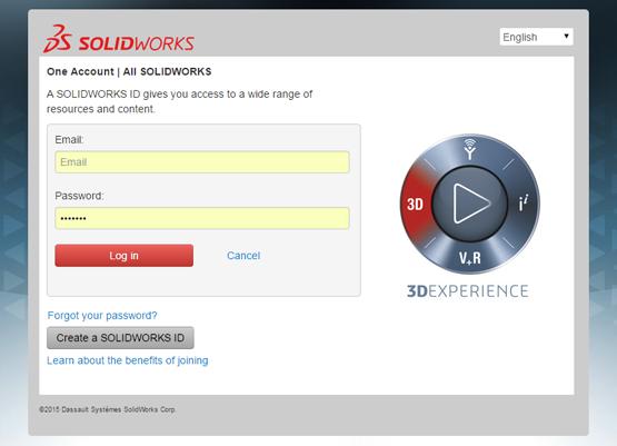 SOLIDWORKS Customer Portal Login