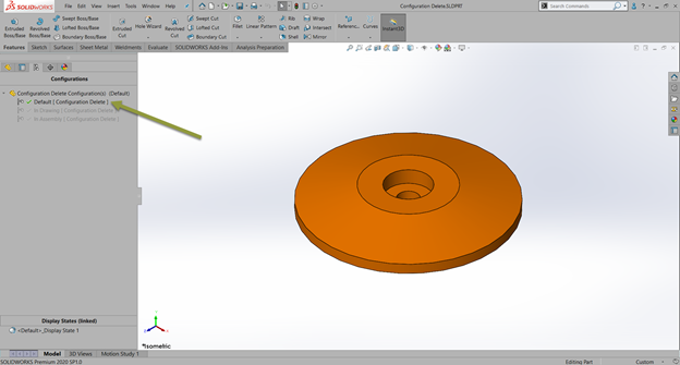 Why Can't I Delete a Configuration in SOLIDWORKS?
